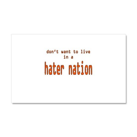 hater nation Car Magnet 20 x 12