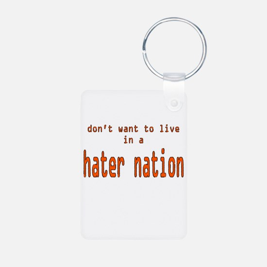 hater nation Keychains