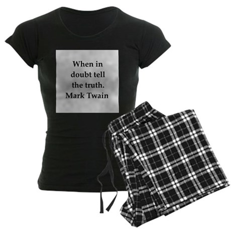Mark Twain quote Women's Dark Pajamas