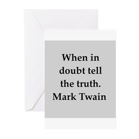 Mark Twain quote Greeting Cards (Pk of 10)