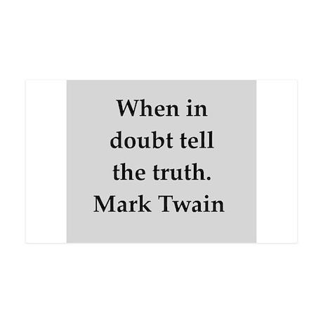 Mark Twain quote 38.5 x 24.5 Wall Peel