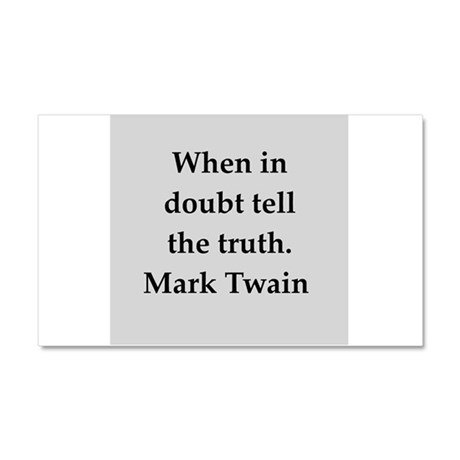 Mark Twain quote Car Magnet 20 x 12