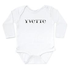 Yvette Carved Metal Long Sleeve Infant Bodysuit