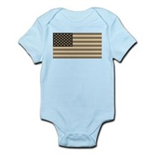 B&W American Flag Infant Creeper