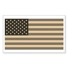 B&W American Flag Rectangle Decal