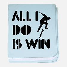 All I do is Win Skateboarding baby blanket