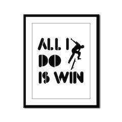 All I do is Win Skateboarding Framed Panel Print