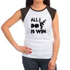 All I do is Win Rollerskating Women's Cap Sleeve T