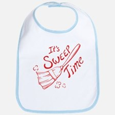 Red and Blue Sweep Time Bib