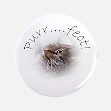 """Purr...fect! Tabby Cat 3.5"""" Button"""
