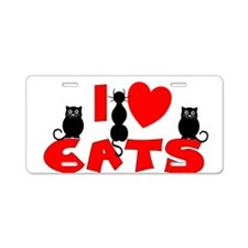 Cute I heart cats Aluminum License Plate