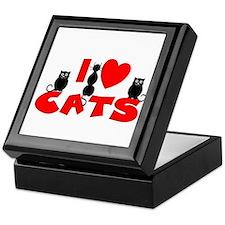 Cute I heart cats Keepsake Box