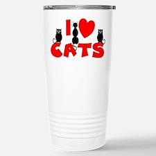 Cute I heart cats Travel Mug