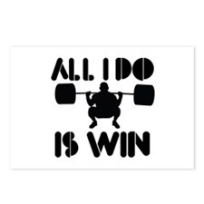 All I do is Win Powerlifter Postcards (Package of