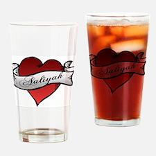 Aaliyah Heart Tattoo Drinking Glass