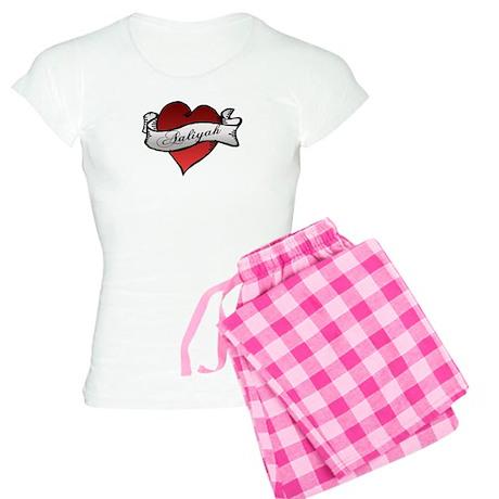 Aaliyah Heart Tattoo Women's Light Pajamas