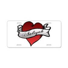 Aaliyah Heart Tattoo Aluminum License Plate