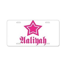 Star Aaliyah! Aluminum License Plate