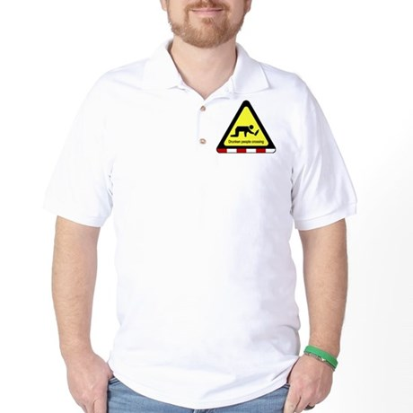 Drunken people crossing Sign Golf Shirt