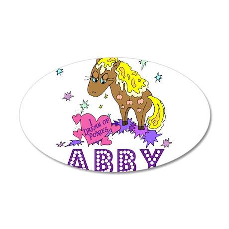 I Dream Of Ponies Abby 38.5 x 24.5 Oval Wall Peel