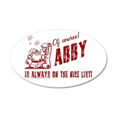 Nice List Abby Christmas 22x14 Oval Wall Peel