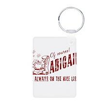 Nice list Abigail Christmas Keychains