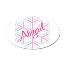 Snowflake Abigail 22x14 Oval Wall Peel
