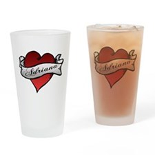 Adriana Heart Tattoo Drinking Glass