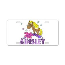 I Dream Of Ponies Ainsley Aluminum License Plate