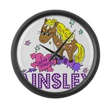 I Dream Of Ponies Ainsley Large Wall Clock