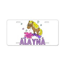 I Dream Of Ponies Alayna Aluminum License Plate