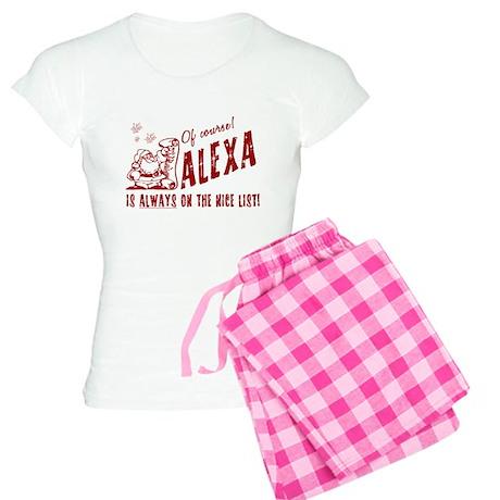 Nice List Alexa Christmas Women's Light Pajamas