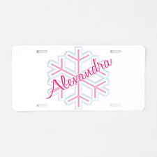 Snowflake Alexandra Aluminum License Plate