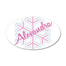 Snowflake Alexandra 22x14 Oval Wall Peel
