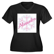 Snowflake Alexandra Women's Plus Size V-Neck Dark