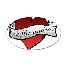 Alexandra Heart Tattoo 22x14 Oval Wall Peel