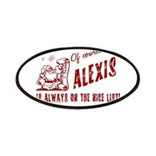 Nice List Alexis Christmas Patches
