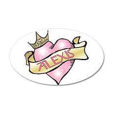 Sweetheart Alexis Custom Prin 22x14 Oval Wall Peel