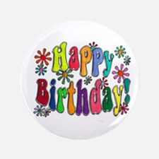 "Happy Birthday 3.5"" Button (100 pack)"