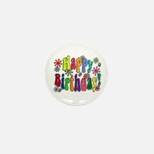 Happy Birthday Mini Button (10 pack)