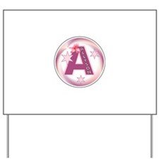 Allyson Star Initial Yard Sign