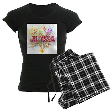 Sparkle Celebration Alyssa Women's Dark Pajamas