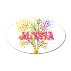 Sparkle Celebration Alyssa 22x14 Oval Wall Peel