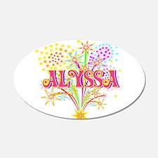 Sparkle Celebration Alyssa 22x14 Oval Wall Peel