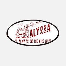 Nice List Alyssa Christmas Patches