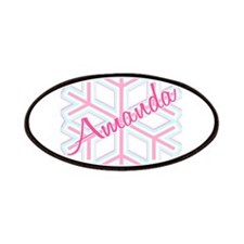 Snowflake Amanda Personalized Patches