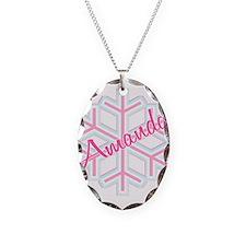 Snowflake Amanda Personalized Necklace