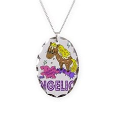 I Dream Of Ponies Angelica Necklace Oval Charm