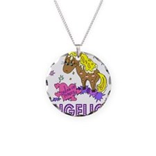 I Dream Of Ponies Angelica Necklace Circle Charm