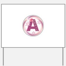 Annie Star Initial Yard Sign
